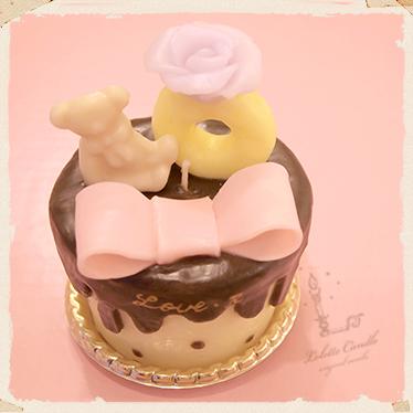 【チョコレートのカップケーキキャンドル】のキャンドルづくり