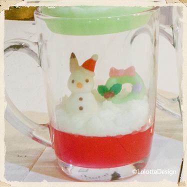 クリスマスパーティの【ソフトクリームパフェ】のキャンドルレッスン3
