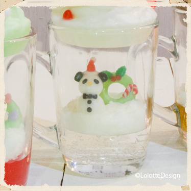 クリスマスパーティの【ソフトクリームパフェ】のキャンドルレッスン4