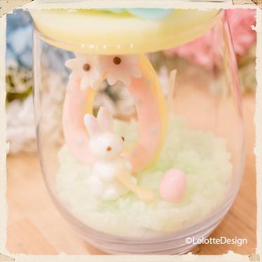 ロロット村の【エッグロールグラスキャンドル】のレッスン2