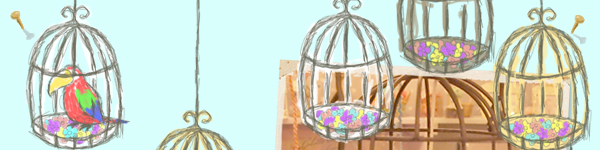 「鳥カゴの木」の鳥さんキャンドル