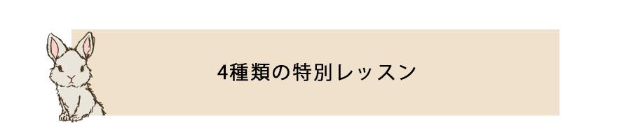4大特別レッスン